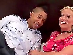 Busty Blonde Fucking A Black Cock Doggystyle