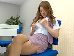 Hot Japanese Model Masturbates With a Sex Toy in the Office
