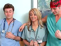 Hot Blonde Elliot Reid Gets Banged By Two Of Her Hospital Peers