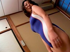 Rapacious young dude oral strokes big tits of mature SACHIKO