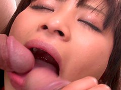 Spoiled Aika Hoshino gets her asshole plugged with anal beads