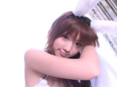 Cute Japanese chick Yuko Ogura is filming in a softcore solo