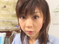 Pretty teen Aki Hoshino visits hospital for check-up