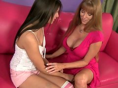 Horny MILF slut Darla Crane starts a hot lesbian sex with Shyla Jennings