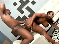Classy phat ebony nympho Delotta Brown gets doggyfucked by BBC