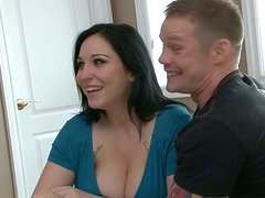 Lexy Mae fucks her boyfriend Shane Reno and his friend Brenden Bangs