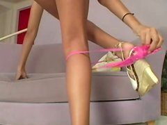 Appetizing mulatto cutie Mekeilah Love gets naked on cam