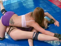 Furious nude fight with hot blonde babe Aleska Diamond