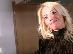 Sultry blonde housewife Sarah Simon gets her juicy ass eaten