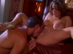Sienna West observes guy eating her pussy