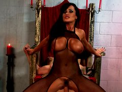 Hussy vampire girl Lisa Ann gives her ass for pounding