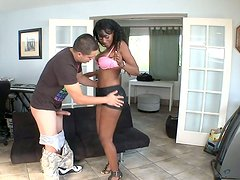 Nyomi Banxxx opens her greasy pussy for heavy pounding