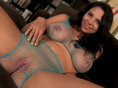 Gorgeous fishnet lingerie of Missy Martinez drives Christian XXX horny