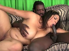 Nasty latina whore Lady Spyce loves to suck the BBC of Nathan Threat