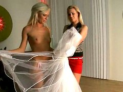 Horny bride Honey Summer fucks her bridesmaid Dominica Dolce