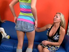 Voracious nymphos Lisa DeMarco & Ivy Winters pose naked near Herschel Savage