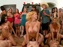 BangBros facesitting contest at the dorm