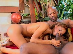Black trimmed cunt of Marie Luv gets penetrated by giant BBC