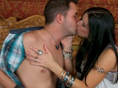 Voluptuous black haired lady India Summer gets her sweet pussy licked