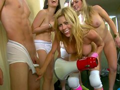 Steamy orgy at the campus with Kagney Linn Karter, Alexis Fawx and Tiffany Tailor