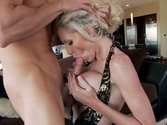 Balls deep into mature pussy of delicious blonde MILF Emma Starr