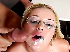 Holly Morgan Gets A Creamy Cream On Her Thirsty Mouth