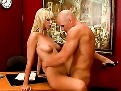 Busty Blonde Brooke Biggs Recieves Warm Load Of Cum In Her Mouth