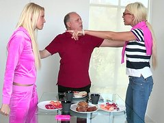 Young blonde chick fucks her boyfriend after a quarrel with family