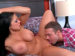 Audrey Bitoni gets her pussy licked and doggy fucked