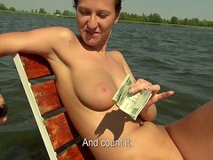 Cock rapacious chick Nikol is ready to fuck for money
