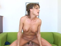Adorable milf Saskia fucks young big cock hard and nasty
