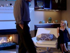 Sexy Monique Alexander spends cold winter night sucking a stiff dick