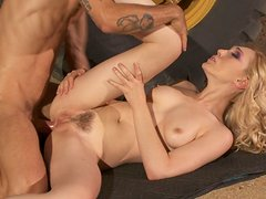 Lily LaBeau's tight anus ring on a big cock
