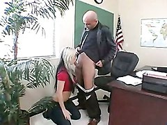 Busty Chick Riley Chase Kneels Down A Hot Stud And Sucks His Cock Hard