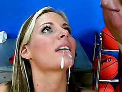 Phoenix Marie Recieves A Sticky Dripping Jizz On Her Mouth