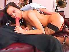 Angelina Crow Takes A Huge Hard Cock In Her Mouth