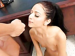 Young Bitch Marissa Mendoza Getting Cummed On Her Sweet Mouth