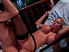 Big Boobed Babe Alanah Rae Getting Face Waxed With Warm Cock Paste