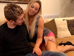 Abbey Brooks quickly finds a replacement for her boyfriend