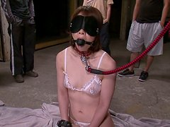 Abused Japanese girl Rio Kagawa sucks cock