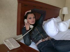 Horny angel Aletta Ocean comes from sex heaven and shows her perfect body
