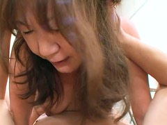 Velludo - Filthy mature woman Michiko Okawa rides cock with her hairy pussy