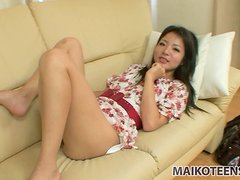 Lovely teen Nao Miyazaki shows her fresh innocent privates