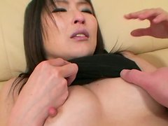 Horny Japanese girlie Harue Nomura dreams of tickling her fancy