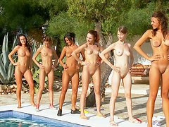 Sexy army of top naked models