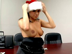 Cuddly snow maiden  Sativa Rose rides one guy