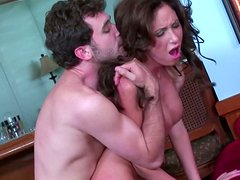 Experienced milf Hillary Scott bends over for anal penetration
