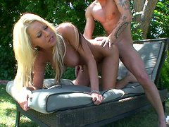 Riley Evans outdoor doggy pounding.
