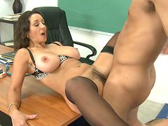Ugly teacher goes bad in her class and gets punished by her student