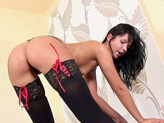 Awesome booty brunette Jane teases and dances on cam